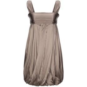 《セール開催中》MAURO GRIFONI レディース ミニワンピース&ドレス カーキ 40 シルク 98% / ポリウレタン 2%