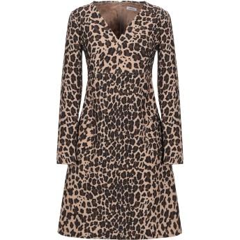 《セール開催中》P.A.R.O.S.H. レディース ミニワンピース&ドレス キャメル XS ポリエステル 92% / ポリウレタン 8%