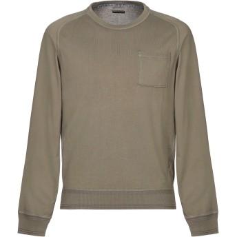 《セール開催中》NAPAPIJRI メンズ スウェットシャツ ミリタリーグリーン L コットン 100%