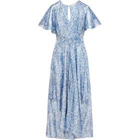 《期間限定セール開催中!》MAJE レディース ロングワンピース&ドレス ブルー 2 シルク 65% / 金属繊維 35%