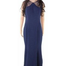 Dress the Population ドレスザポピュレーション ファッション ドレス Dress The Population Womens Blue Size Large L Strappy Gown Dre