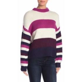ファッション トップス Abound Womens White Ivory Size XXS Colorblock Crewneck Knit Sweater