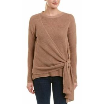 ファッション トップス Acrobat Tie-Front Cashmere-Bled Sweater