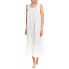 Eileen West アイリーンウエスト ファッション ドレス Eileen West Pleated Nightgown Xs White