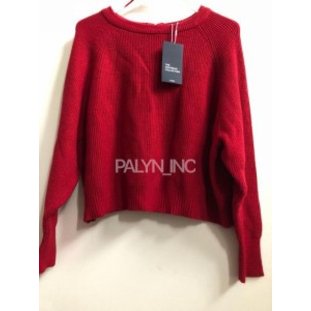 Red  ファッション トップス RARE_NWT ZARA RED SWEATER WITH ZIP AT THE BACK 5536/102_S M