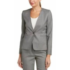 max マックス ファッション 衣類 Max Mara Wool & Silk-Blend Jacket 16 Grey