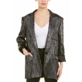 Blazer ブレザー ファッション フォーマル Isabel Marant Etoile Datja Silver Metallic Boyfriend Blazer 40
