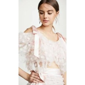 Rodarte レディースその他 Rodarte Embroidered Tiered Off Shoulder Blouse Light Pink