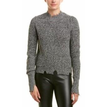 Helmut Lang ヘルムートラング ファッション トップス Helmut Lang Distressed Wool-Blend Sweater L Grey