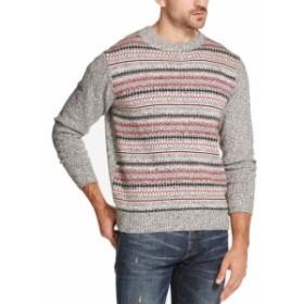 Weatherproof ウォータープルーフ ファッション トップス Weatherproof Mens Sweater Gray Size XL Stripe Print Knit Crewneck
