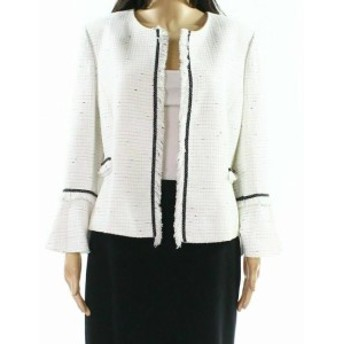 Tahari タハリ ファッション 衣類 Tahari By ASL NEW White Ivory Womens Size 0P Petite Tweed Jacket