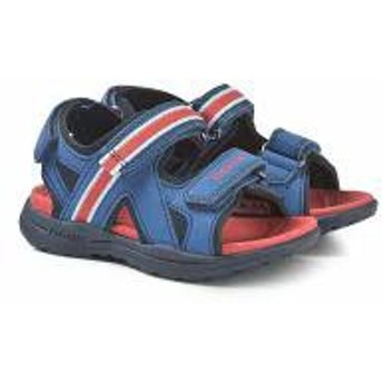 Geox キッズアウター Geox Blue and Red Gleeful Velcro Sandals