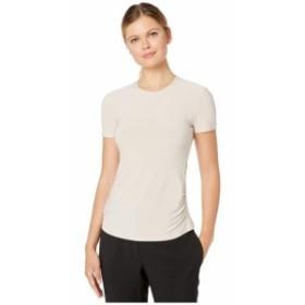 Anne Klein アンクライン 服 一般 Ity Crew Neck Shirred Waist T-Shirt