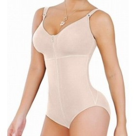 Salome  スポーツ用品 フィットネス Fajas Salome Womens Shapewear Beige Size Medium M Body Suits Full-Zipped #486