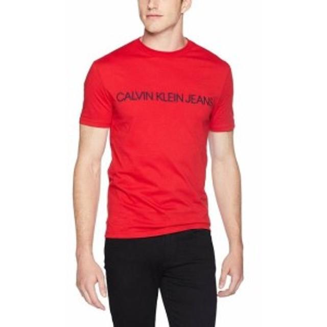 Calvin Klein カルバンクライン ファッション トップス Calvin Klein Mens Tee Shirt Tango Red Size Large L Logo Graphic Print