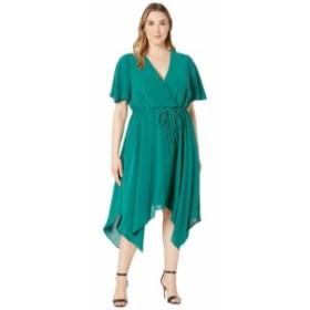 Adrianna Papell アドリアナパぺル ドレス 一般 Plus Size Gauzy Crepe Tie Waist Dress