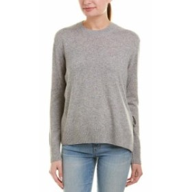 Vince ヴィンス ファッション トップス Vince Tie-Side Cashmere Sweater L Grey