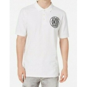 DKNY ダナキャランニューヨーク ファッション アウター DKNY Mens White Size Large L Embroidered New York Polo Rugby Shirt