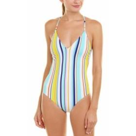 coast コースト スポーツ用品 スイミング Nanette Lepore Amalfi Coast Stripe One-Piece Xs Blue