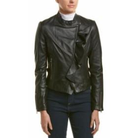 LAMARQUE ラマーク ファッション 衣類 Lamarque Ruffle Leather Jacket