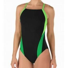speedo スピード スポーツ用品 スイミング Speedo Womens Swimwear Green Black Size 30 One-Piece Contrast-Trim Cutout #784