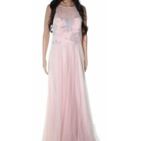 Hayley Paige ヘイリーペイジ ファッション ドレス Hayley Paige NEW Pink Cashmere Chiffon Womens Size 12 Evening Gown