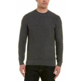 ファッション トップス J. Lindeberg Mens J.Lindeberg Remus Wool-Blend Sweater L Grey