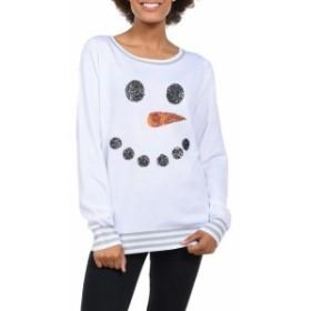 tipsy elves ティプシーエルヴィス ファッション トップス Tipsy Elves Womens White Size Large L Snowman Scoop Neck Sweater