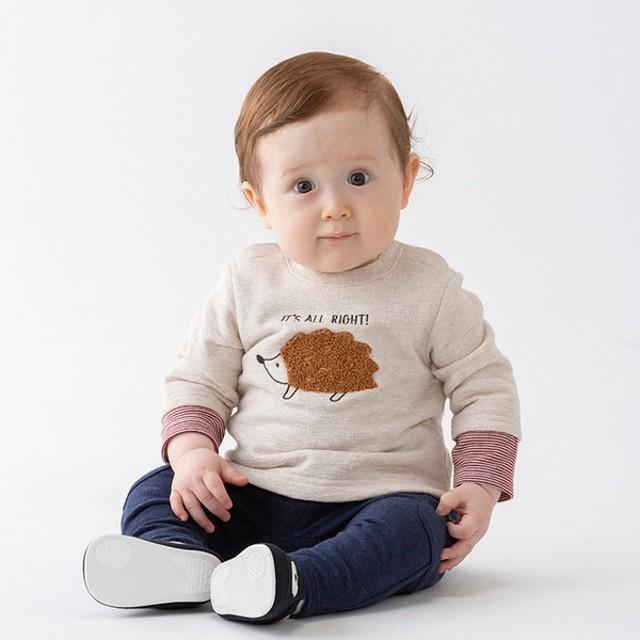 ベビー シンプルフリー パンツ ポケット付き 10分丈 ネイビー ベビー・キッズウェア ベビー(70~95cm) ボトムス(男児) (191)