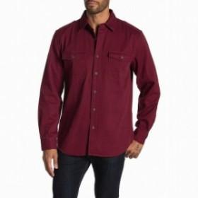 Weatherproof ウォータープルーフ ファッション アウター Weatherproof Mens Shirt Merlot Red Size XL Long Sleeve Button Down