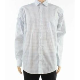 Plaid  ファッション ドレス Club Room Mens Dress Shirt Black Size 17 1/2 Plaid Print Regular Fit
