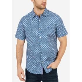 nautica ノーティカ ファッション アウター Nautica Men Blue XL Anchor Poplin Classic Fit Stretch Button Down Shirt