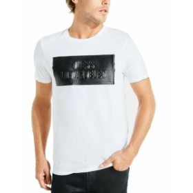 GUESS ゲス ファッション トップス Guess Mens Tee Shirt White Black Size Small S Embossed Logo Graphic