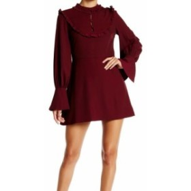 endless エンドレス ファッション ドレス Endless Rose Womens Dress Burgundy Red Size Small S Ruffled A-Line
