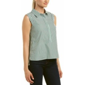 Milly ミリー ファッション 衣類 Milly Pleat Back Top P Green