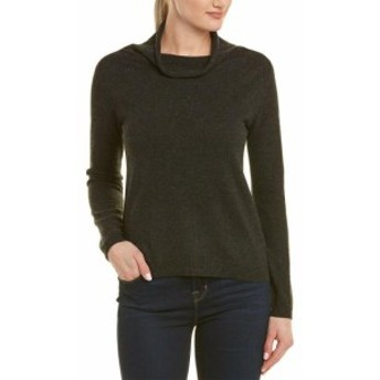 IN Cashmere インカシミア ファッション トップス In Cashmere Womens Incashmere Mock Collar Cashmere Sweater L Grey