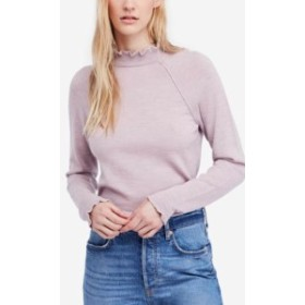 Free People フリーピープル ファッション トップス Free People Womens Purple Size Small S Ruffled Pullover Wool Sweater