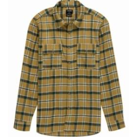 Hurley ハーレー ファッション アウター Hurley Men Shirt Yellow Size Medium M Plaid Print Dual Pocket Button Up