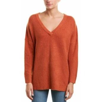 French Connection フレンチコネクション ファッション トップス French Connection V-Neck Wool-Blend Sweater L Orange