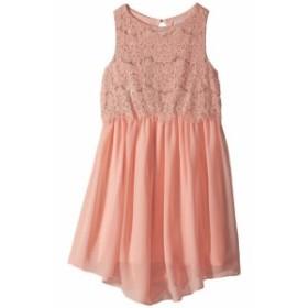 Us Angels ユーエスエンジェルズ ドレス 一般 Sleeveless Lace Popover Dress w/ V-Hemline (Big Kids)