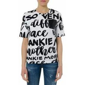 Frankie Morello レディースその他 Frankie Morello Black & White Cotton Lettering T-shirt Black