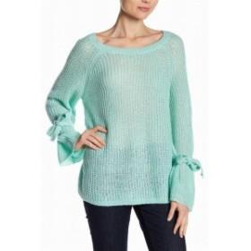 ファッション トップス NAADAM Womens Green Size Small S Tie Sleeve Scoop-Neck Knitted Sweater