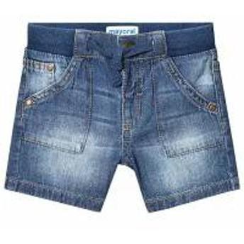 Mayoral キッズパンツ Mayoral Dark Wash Pull Up Denim Shorts