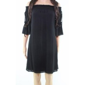 Laundry by Shelli Segal ランドリーバイシェルシーガル ファッション ドレス Laundry by Shelli Segal NEW Black Off-Shoulder Smocked