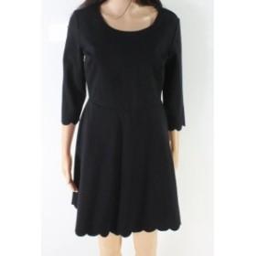 ファッション ドレス Lola Grace NEW Black Womens Size Medium M Scoop Neck A-Line Dress
