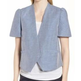 Nordstrom ノードストローム ファッション 衣類 Nordstrom Signature NEW Blue Chambray Women Medium M Puff Vest Jacket