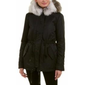 Nicole ニコール ファッション 衣類 Nb Series By Nicole Benisti Leather-Trim Down Jacket Xxl Black