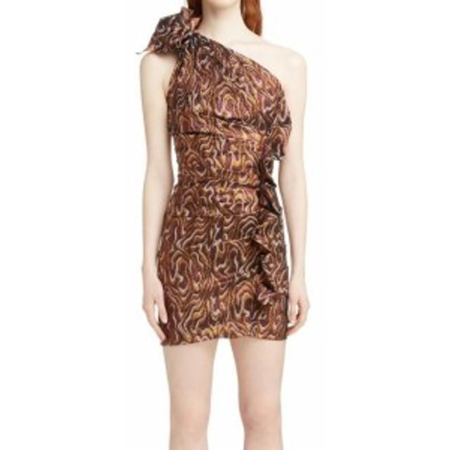 ファッション ドレス Isabel Marant Womens Purple Size 36 Metallic Ruched Sheath Dress