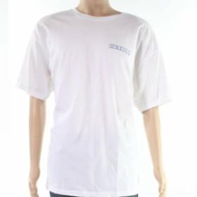 ONeill オニール ファッション トップス ONeill Mens White Size Medium M Tee Crested Logo-Print T-Shirt Crewneck #117