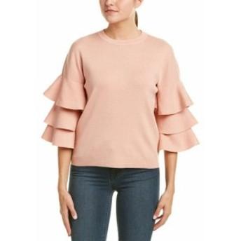 Ruffle  ファッション トップス Duffy Ruffle Sleeve Sweater Xs Pink